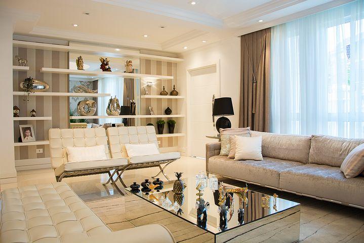 Italian sofa in a living room